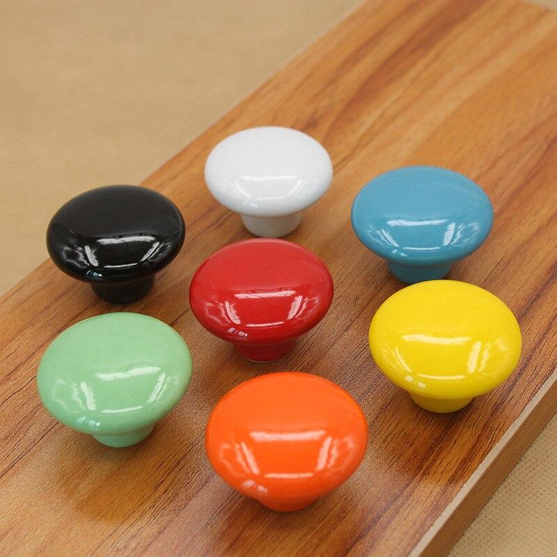 10 قطعة الحلوى اللون جولة مقابض للأثاث درج سيراميك المقابض مجلس الوزراء التأثيرات المطبخ مقبض الأثاث مقبض للأطفال غرفة