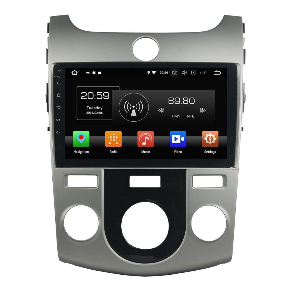 Aotsr Android 8.0 7.1 GPS navigation Car DVD Player For KIA CeratoForte 2008-2012 multimedia radio recorder 2 DIN 4GB+32GB