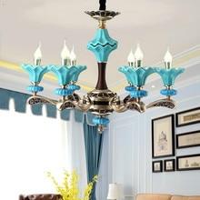 Lustre en laiton de Zinc méditerranéen en céramique accrochant la lumière pour la chambre à coucher salon hôtel bougeoirs de luxe lustres modernes