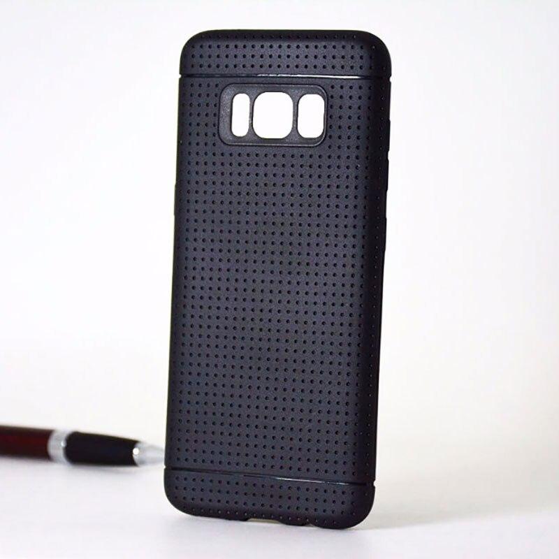 honeycomb coque for Samsung Galaxy S8 case net hot fashion silicone soft TPU material Imitation slip design black capa funda