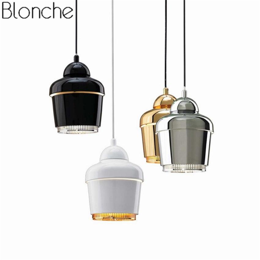 Post modern Metal Pendant Lights Gold Loft Led Hanging Lamp Dining Room Bar Kitchen Industrial Decor Home Lighting Fixtures E27