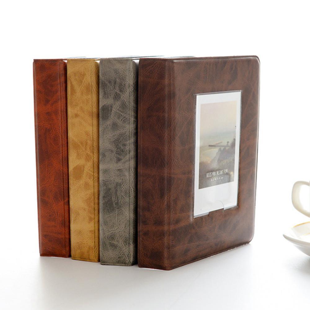 Foto Retro álbum 32 bolsillos 5 pulgadas Foto Libro álbum Mini libro...