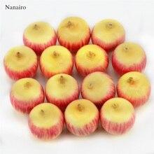 Mini noisettes artificielles 8 pièces   Fausse mousse, fleurs Fruits et légumes baies, pour décoration darbre de noël de mariage, 80 pièces