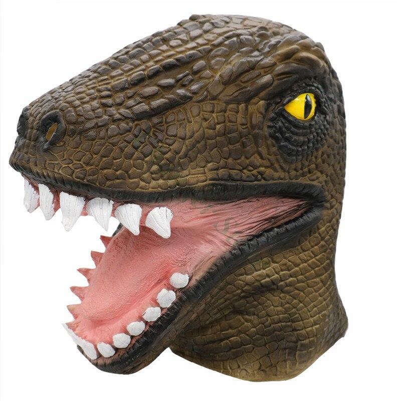 Máscara de cabeza de dinosaurio disfraz de animal para Cosplay accesorios de vestir elegantes para mascarada de Halloween suministros de fiesta del Festival