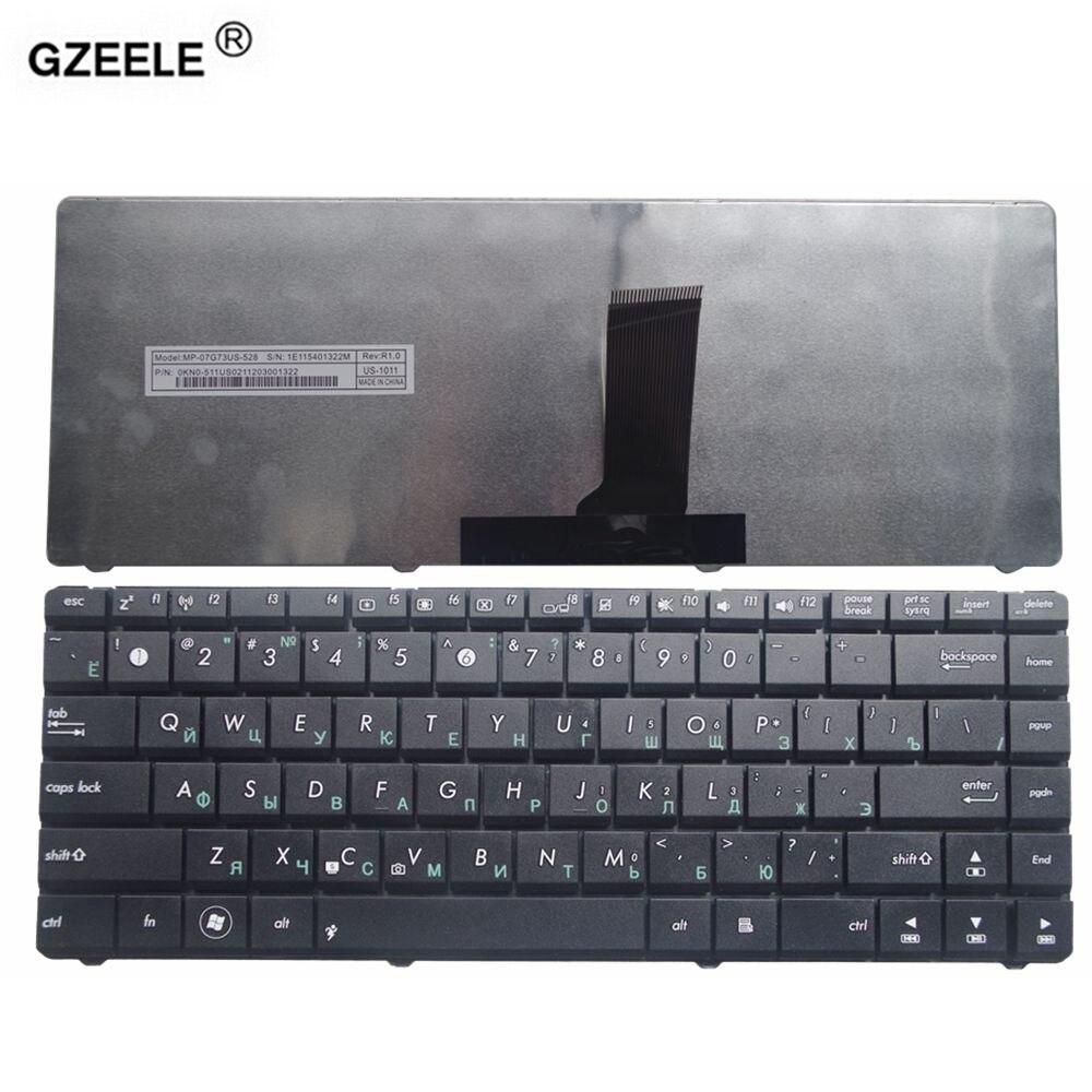 Teclado Do Laptop russa para ASUS k42J GZEELE A42J A83S K43S N82J X42J A43S P43 A43F P43E A83S N82JV X35 X35S X35J X35JG RU PRETO