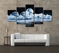 5 panels modern abstract moon scenery canvas print painting modern canvas wall art for wall pcture home decor artwork unframed