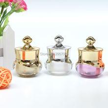 5g couronne or blanc violet luxe Mini crème bouteille pot boîtes vides cosmétique conteneurs acrylique pots 20 pièces livraison gratuite