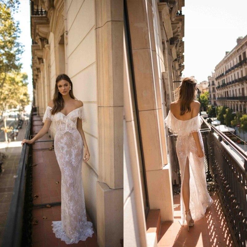 2021 Свадебные платья Русалочки сексуальное платье с открытыми плечами низким