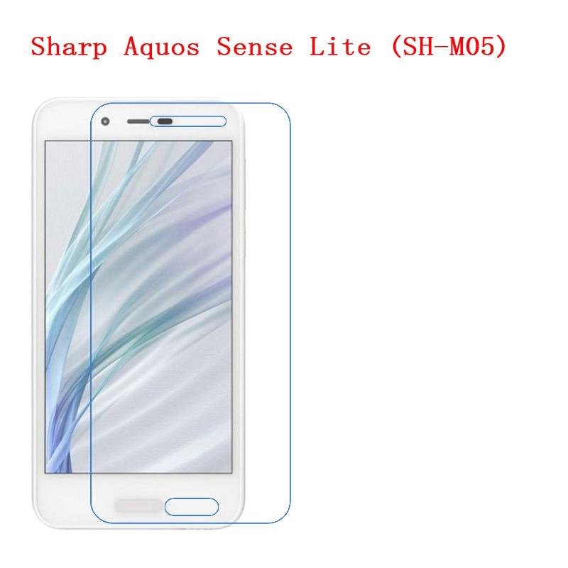 Para Sharp Aquos Sense Lite (SH-M05) fibra de carbono 9 H plexiglás Protector de pantalla