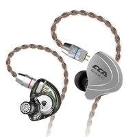 CCA C10 4ba+1dd Hybrid In Ear Earphone Hifi Monito Running Sports Earphone 5 Drive Unit Headset KZ Bluetooth Cable for CCA C10