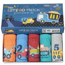 2018 Boy Underwear 5pcs/lot Baby Cotton Panties EXCAVATOR briefs For Boys cute engine truck stripe unisex Panties for girls