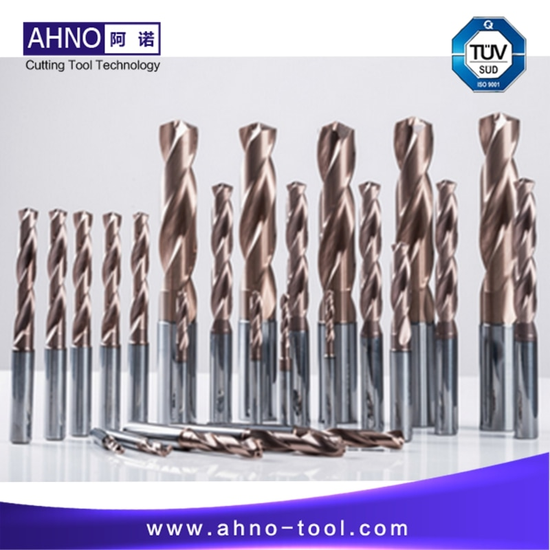 AHNO Tungsten Solide Carbide Drill Bit 5xD for CNC Machine Highest Quality Carbide Drill in China