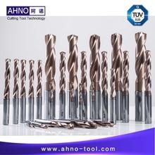 Foret en carbure de tungstène Solide AHNO 5xD pour Machine à CNC, foret en carbure de la plus haute qualité en chine