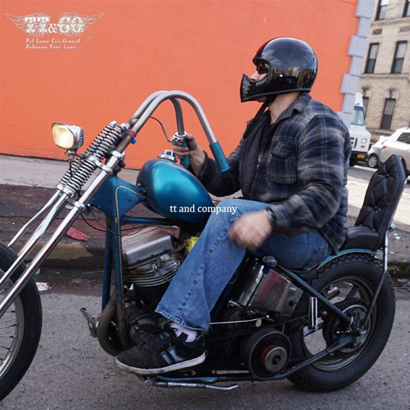 TT CO Thompson-casque de moto, casque de croisière, ghost, rétro, en Fiber de verre, casque intégral, avec possibilité dajouter des lunettes