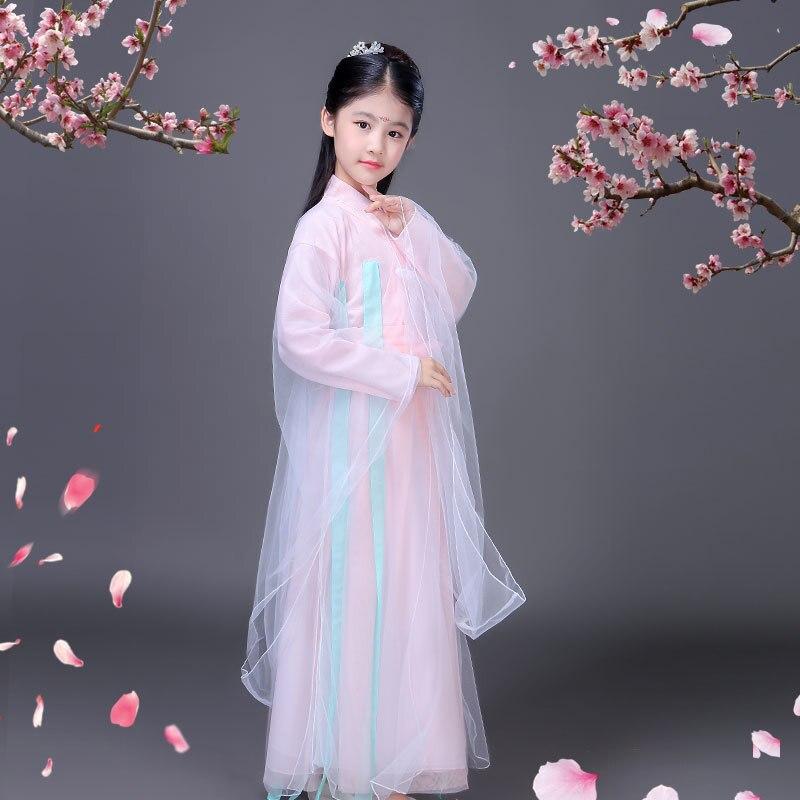 Trajes chinos de baile tradicionales para niñas, vestido antiguo de hada han tang dynasty qing hanfu de la ópera ming, niño chico s chico