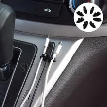 8 Uds clip de cable de coche 3D accesorios adhesivos para coches estilo para Brabus smart 451 450 insignia emblema de escape Accesorios