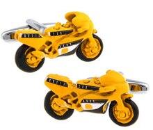 Frete grátis links manguito masculino cor amarela material de bronze novidade esporte moto design negócio terno accessaries