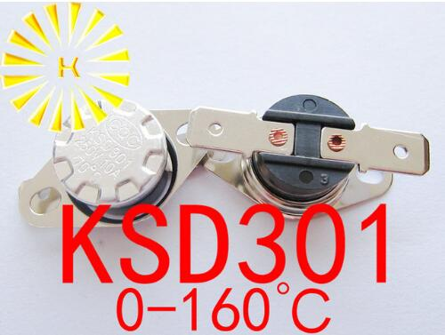 KSD301 0-160 градусов C 10A 250 В нормально закрытый/открытый температурный переключатель термостатный резистор x 100 шт.
