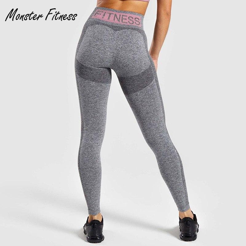 2019 Leggings elásticos para gimnasio, Leggings flexibles sin costura, pantalones de Yoga para Control de barriga, Leggings deportivos para gimnasio de cintura alta, pantalones para correr para mujer