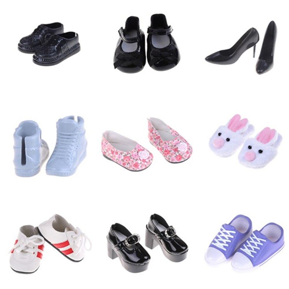1 par de botas de muñeca zapatos de tacón alto para zapatos de muñeca de 18 pulgadas con accesorios para muñecas tacones altos para botas de muñecas