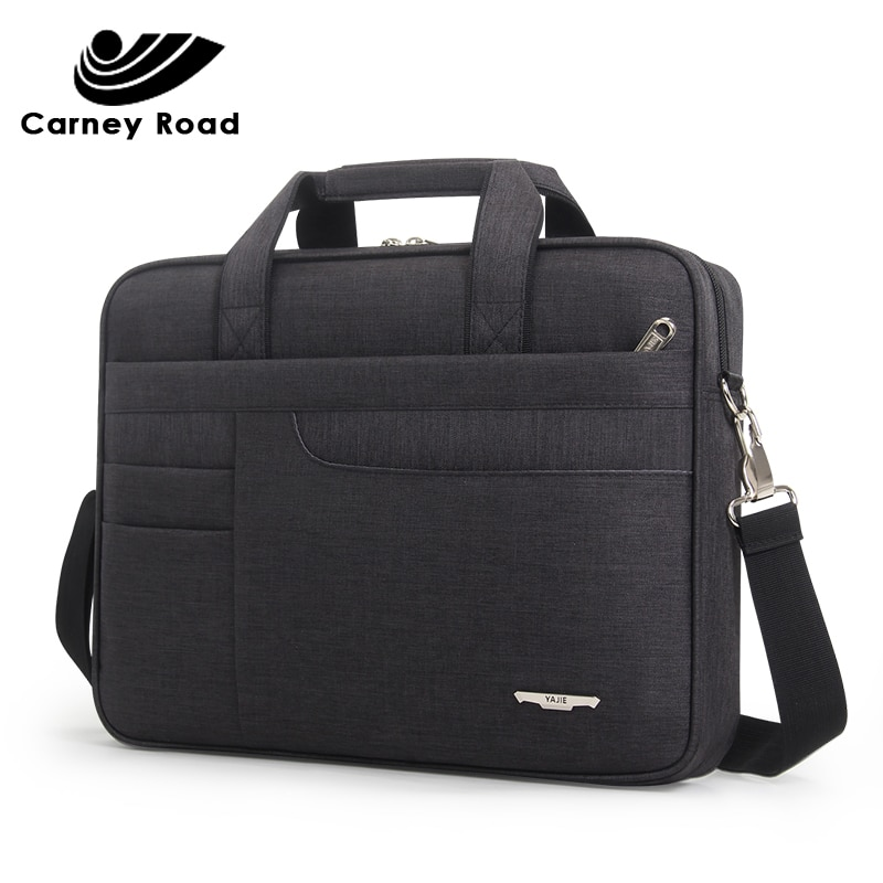 Brand Waterproof Men Women 14 15.6 inch Laptop Briefcase Business Handbag for Men Large Capacity Mes