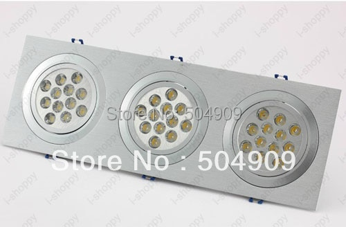 Dimmable 36 W (3*12 W) LED Tri-Head Teto Rebaixado Gabinete Luminária Downlight/Spotlight Bulb Lamp Retângulo AC 110 V/220 V