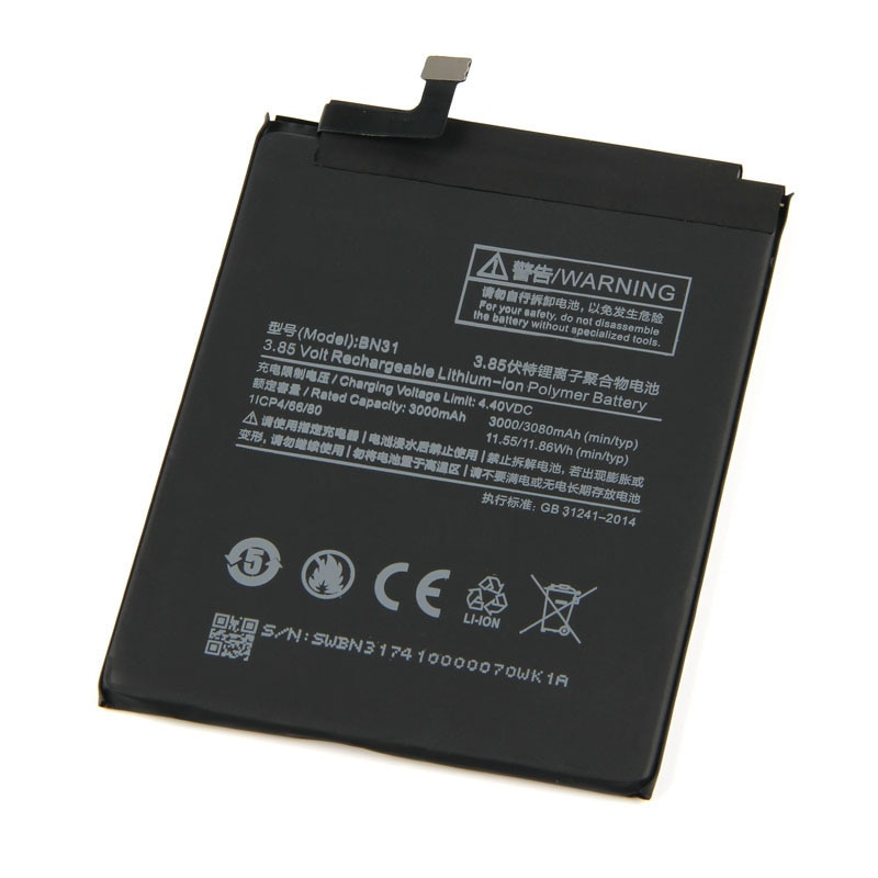 5 pçs/lote 3000mAh Nova Bateria Do Telefone 5X 5X BN31 para Xiao mi mi mi mi Vermelho Nota 5A/ pro Lite S2 Y1 A1 mi mi Vermelho Baterias móveis