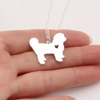 silver shih tzu necklace dog charm pets gift necklaces pendants delicate women necklace animal pendant charms christmas