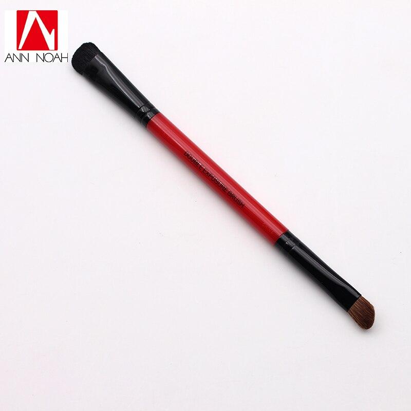 Profissional Punho Vermelho Pônei Cabelo 2-em-1 Dupla Exposição Sombra de Olho Angular Escova Varredura