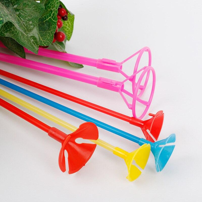 10 sätze/los 30 cm/35 cm Latex Ballon Stick Folie Ballon Halter PVC Stangen Luftballons Halter Sticks mit Tasse party Dekoration Zubehör