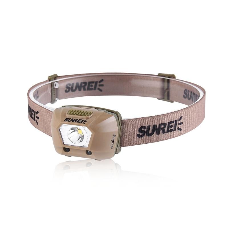 SUNREI LED Smart Sensor налобный фонарь 225LM IPX6 Водонепроницаемый XPG3 S2 LED 4 режима налобный фонарь для велосипеда 3 аккумулятора AAA