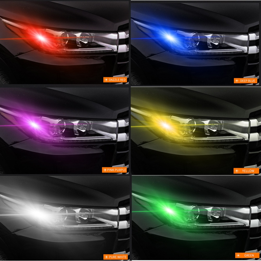 2020 NEW 2x T10 5050 LED RGB COB Interior Wedge Side Light Strobe Remote Control Bulbs headlights Dropshipping For honda For bmw