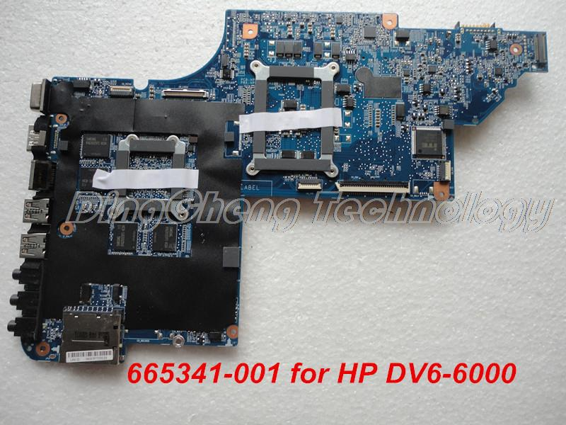 HOLYTIME материнская плата для ноутбука hp DV6 DV6-6000 Материнская плата ноутбука 665341-001 HM65 1GB 100% протестирована