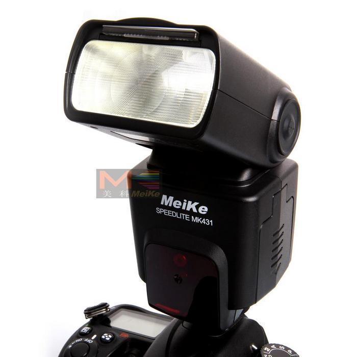Meike MK-431 MK431 TTL Flash Speedlite para câmeras Canon 650D 600D 550D 500D 450D 400D 1100D D5100 D3200 D3100 D90 d7100 D7000