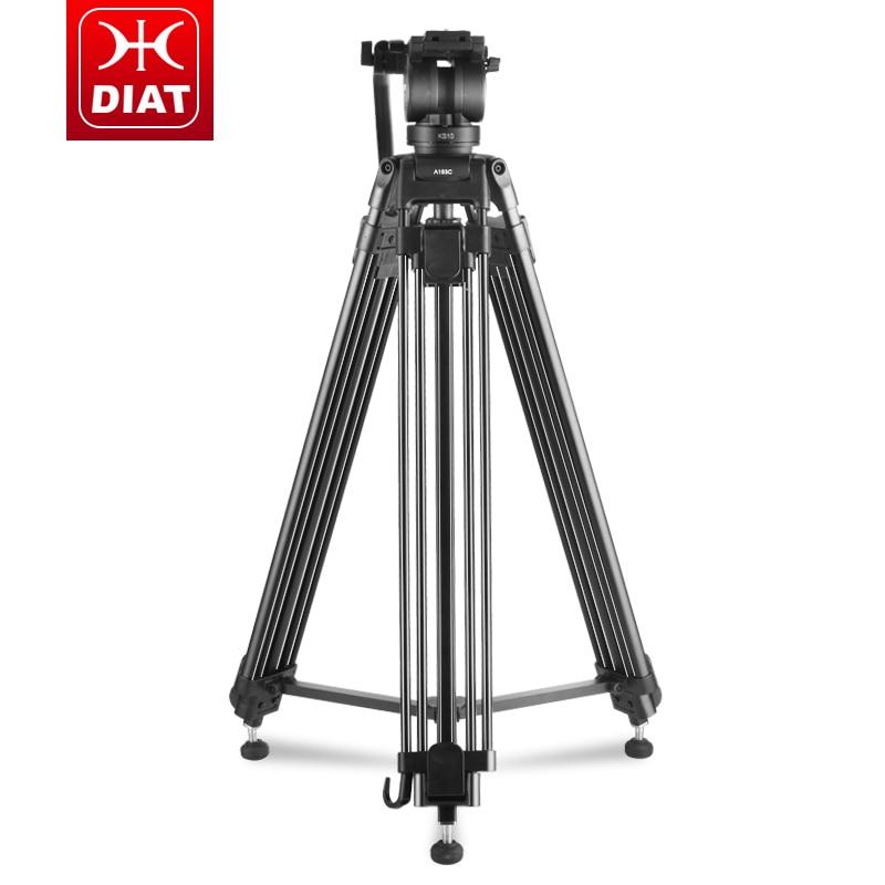 Diat A193C KS10 trípode de vídeo portátil de aluminio profesional + cabezal hidráulico trípode de cámara Digital DSLR miliboo manfrotto