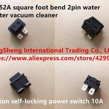 Original new 100% import SB-52A square foot bend 2pin water heater vacuum cleaner button self-lockin