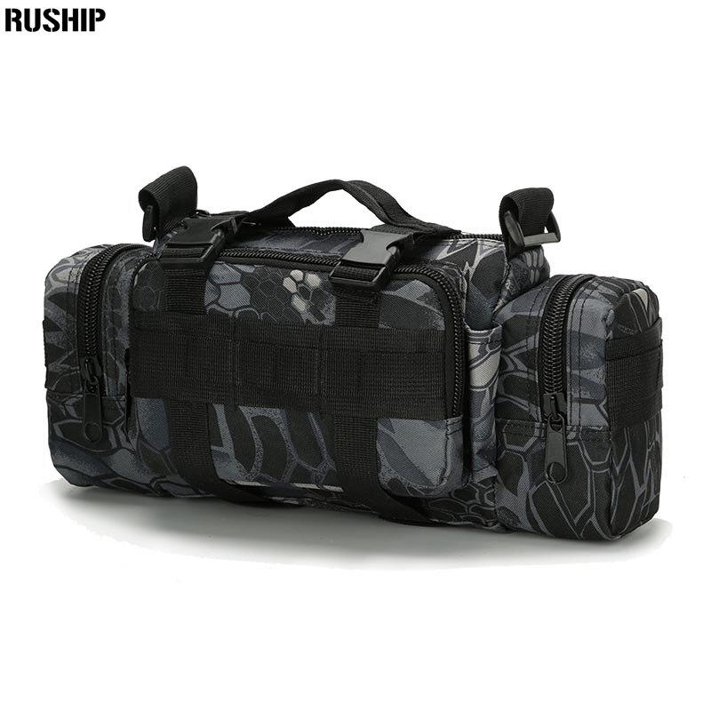 AOKALI, paquete de correa de equipo de asalto táctico, bolsa de rango, paquete de senderismo, bolso de cintura, mochila de hombro, bolsa de cámara, despliegue pesado MOLLE