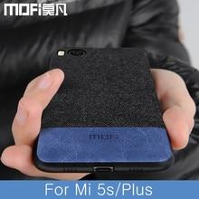 For Xiaomi Mi 5s Case Cover Shockproof Back Cover Fabric Cloth Fitted Protective Cases Capas MOFi Original Mi5s Plus Case