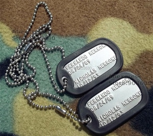 Free shipping ! Dog Tag  number Blood type Religion 100sets/Lot