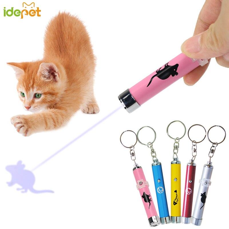 Juguete para gatos 1 unidad, juguetes de Gato divertidos creativos y portátiles, bolígrafo de puntero láser con luz LED con animación brillante con sombra de ratón, juguetes para gatos 35