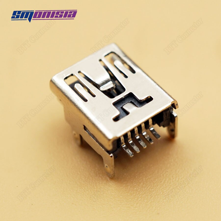 Smonisia 20 pçs 4 pés smd tipo mini usb 5pin conector para controlador de jogo acessórios diy