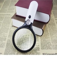 handheld 3x 45x with 3led lights illumination magnifier microscope old man reading jewelry repair magnifier repair tool