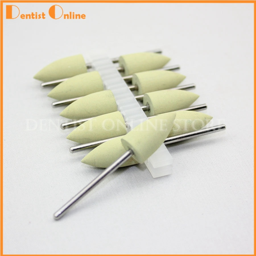 20 Uds nuevo Dental silicona resina de goma Base oculta dentadura pulido Burs