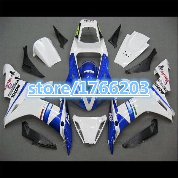 YZF 1000 azul blanco gran oferta YZF-R1 YZFR1 2002, 2003 para YZF R1 02-03 02 03 YZF1000 YZF-1000 carenado de ABS Ning
