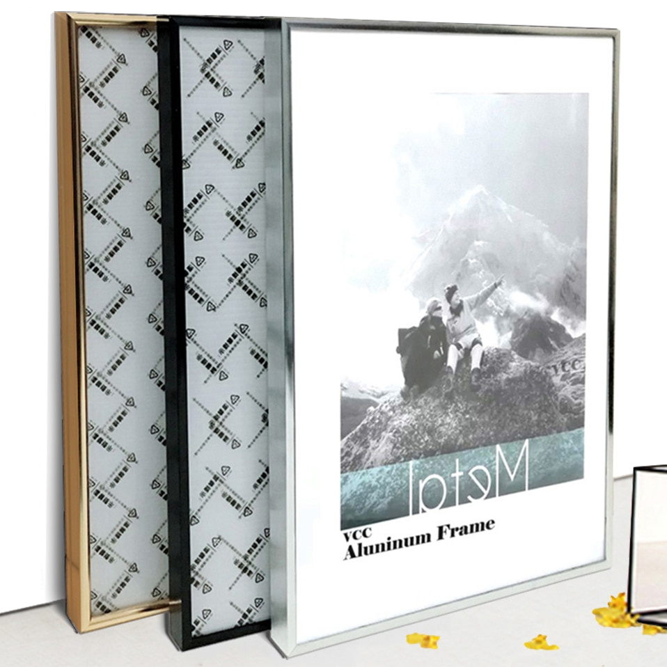 aliexpress.com - Picture Frame Metal Poster Frame Classic Aluminum Photo Frames For Wall Hanging A3 A4 30×30 Certificate Frame VCC