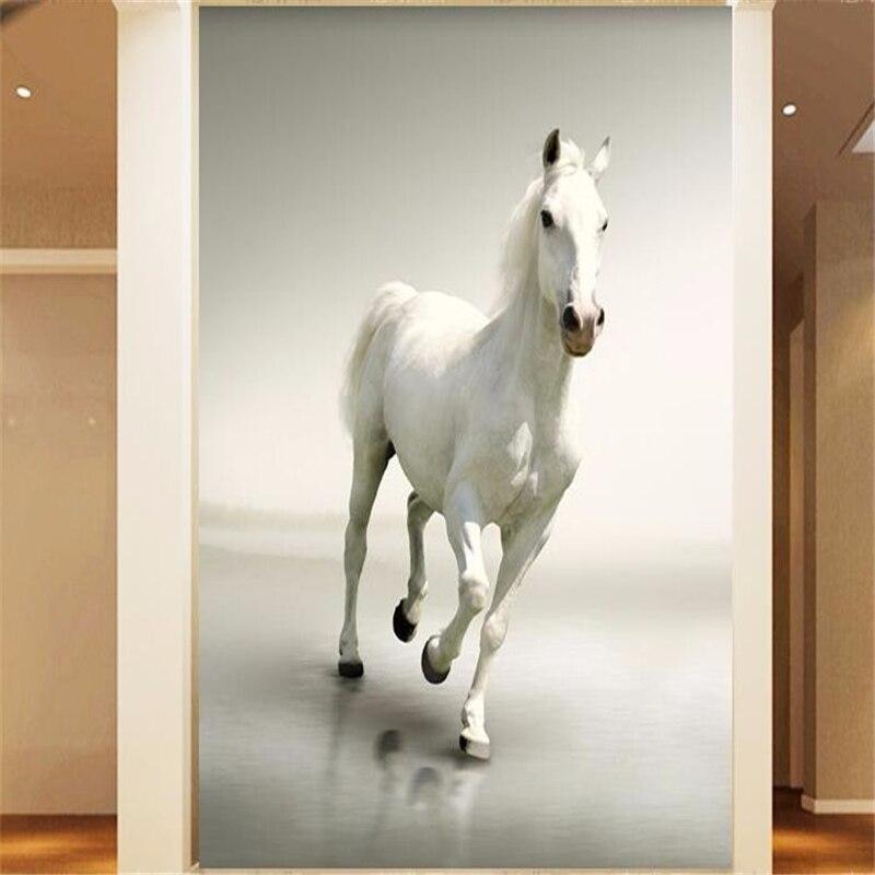 Papel pintado personalizado beibehang 3d para pared, caballo, sala de estar, pasillo, corredor, pared, papel pintado, decoración del hogar