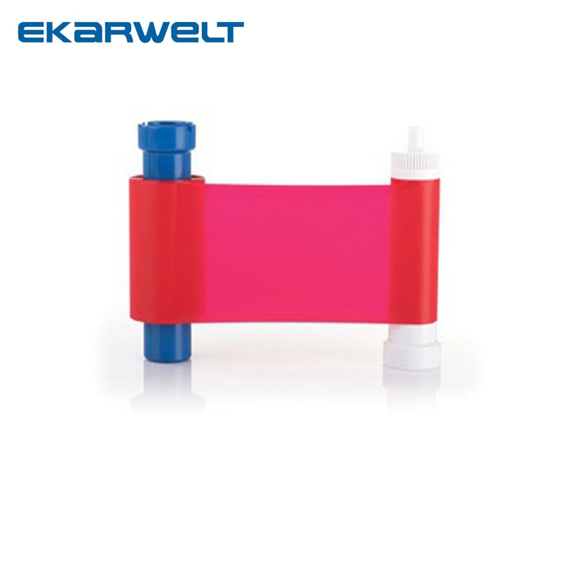 Cinta de resina roja Magicard Compatible con película de tinte monocromo rojo MA1000R 1000 impresiones/rollo