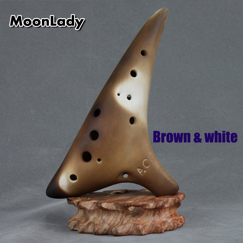 12 Holes Sharp Hole Ocarina Alto C Dark Brown Music Instruments Smooth Appearance Woodwind Instrument Easy to Learn enlarge