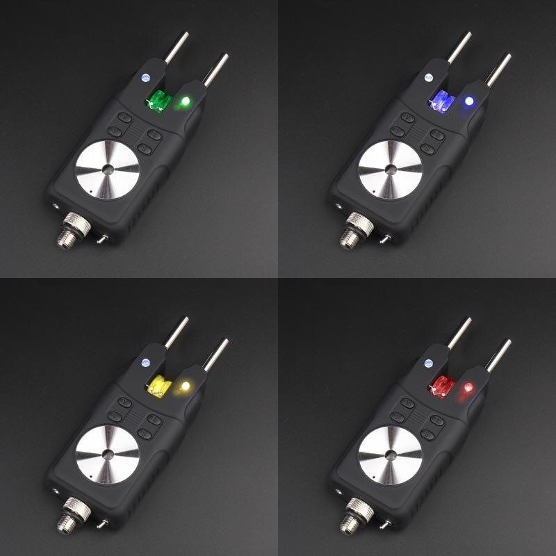 Indicador de alarma de mordedura de Pesca de carpa ligero para caña de pescar, tono ajustable, volumen y sensibilidad, alarma de pesca, herramienta para aparejos