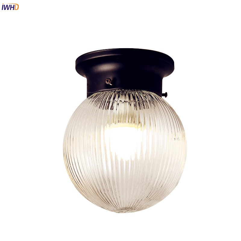 IWHD-مصباح سقف زجاجي عتيق LED ، مصباح سقف مزخرف ، مصباح سقف مزخرف ، مثالي للممر أو الشرفة ، 3 وات